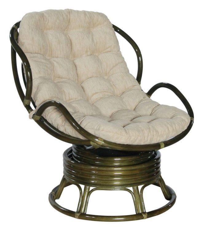Кресло Папасан с подлокотниками вращающееся