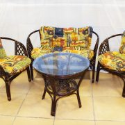 Комплект мебели плетёный из ротанга с диванчиком арт.0117