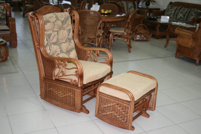 Кресло-качалка с банкеткой качалкой «Рузвельт»