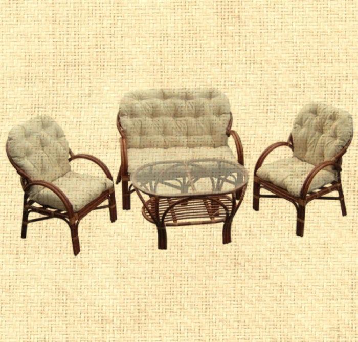 Комплект мебели из ротанга с диваном арт.0125