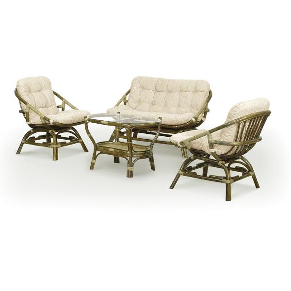 Комплект мебели плетёный из ротанга с диваном арт.0113