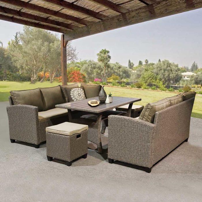 Комплект плетеной мебели  Патио 5 предметов