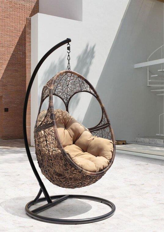 Подвесное кресло из искусственного ротанга SOL