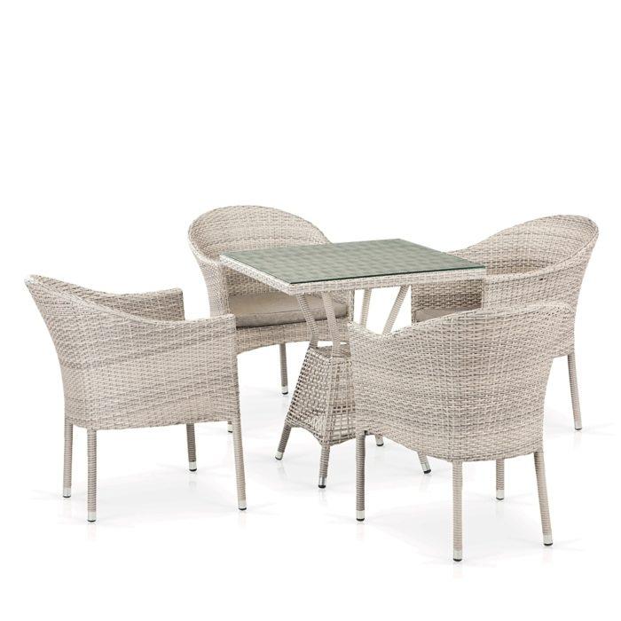 Комплект плетеной мебели из искусственного ротанга ЛАТТЕ