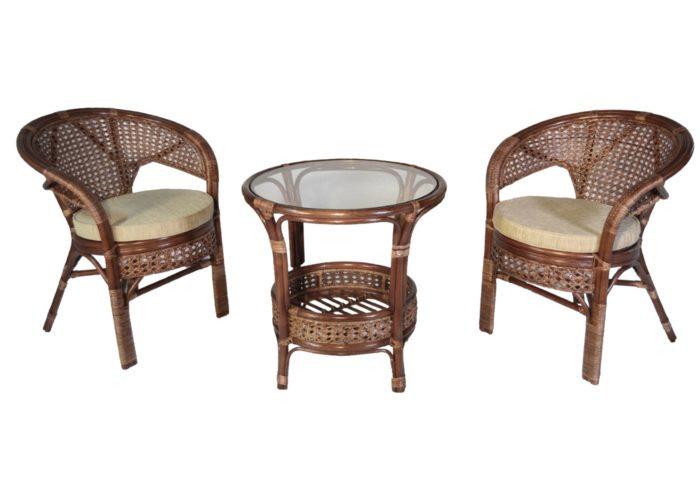 Комплект мебели плетеный из натурального ротанга арт.0215
