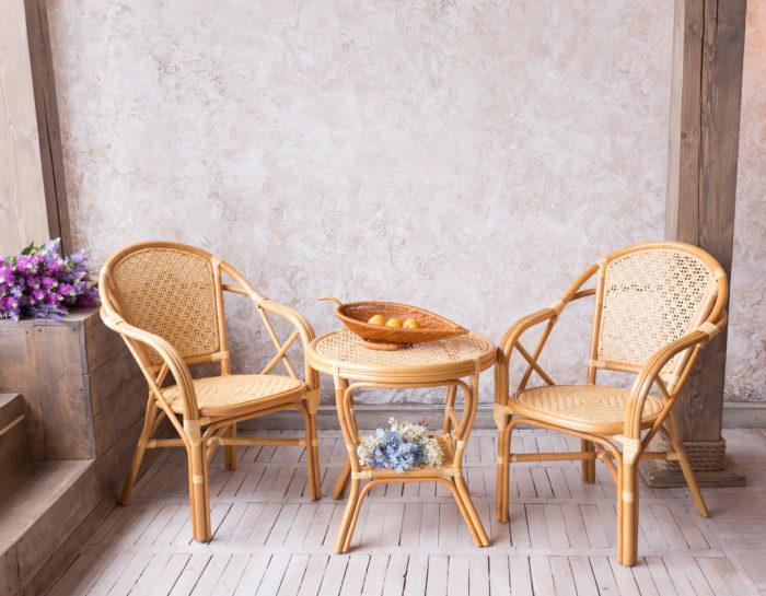 Комплект мебели плетеный из натурального ротанга Дуэт