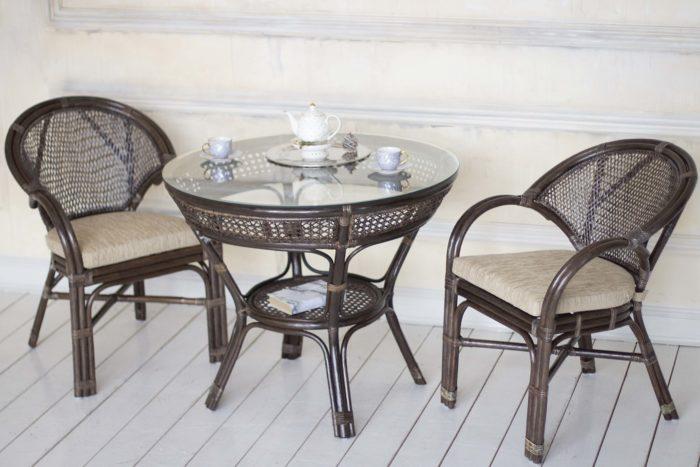 Комплект мебели плетеный из натурального ротанга Ева