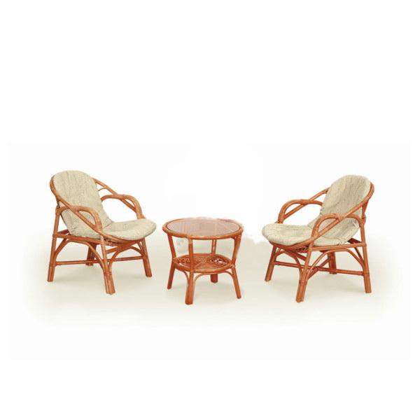 Комплект мебели плетеный из натурального ротанга арт.0204