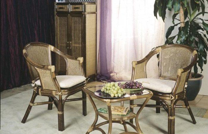 Комплект мебели плетеный из натурального ротанга арт.0206