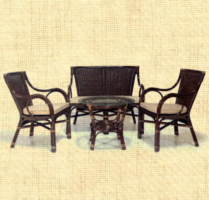 Комплект мебели плетеный из натурального ротанга Марина