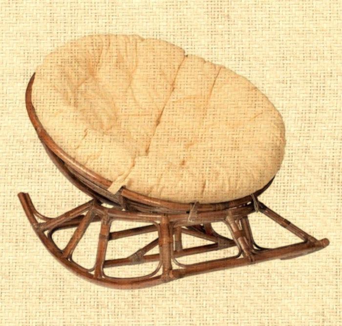 Кресло-качалка плетеное из натурального ротанга Папасан