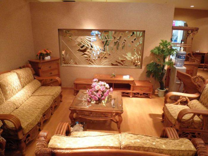 Комплект мебели из ротанга и массива ясеня «Александр»