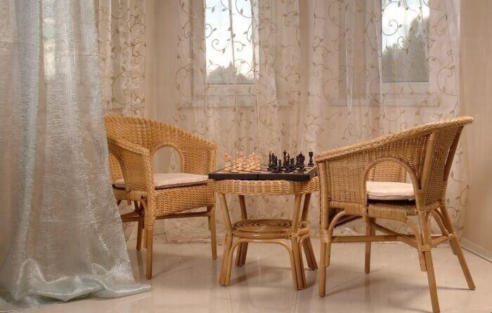 Комплект мебели плетёный из ротанга Клэр