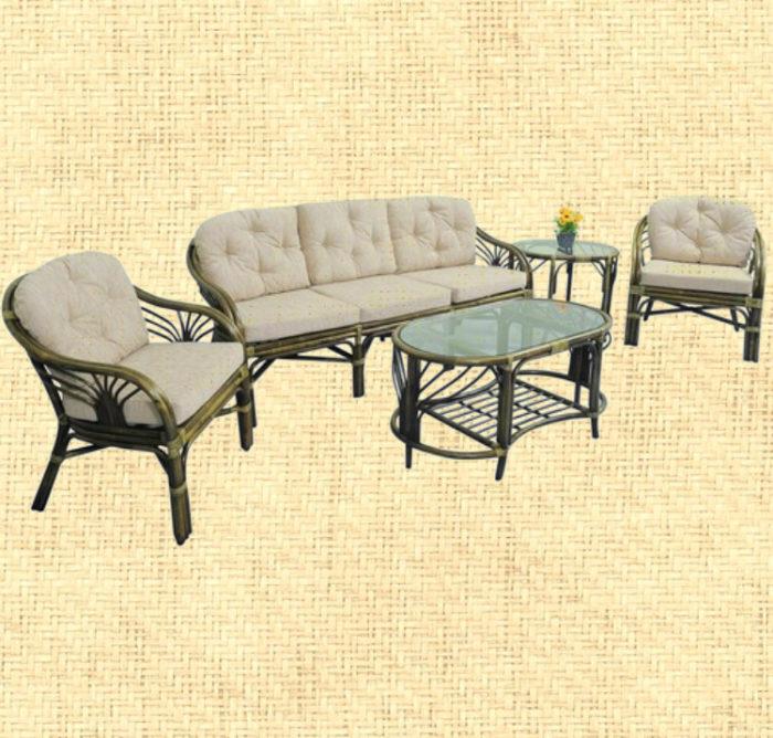 Комплект мебели плетёный из ротанга c 3-х местным диваном арт.0114