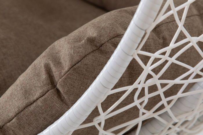 Подвесное кресло из искусственного ротанга Корсика Вайт